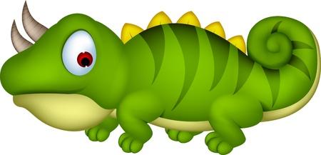 Chameleon cartoon Illustration
