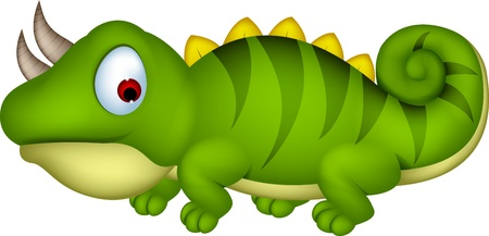 wildlife smile: Chameleon cartoon Illustration
