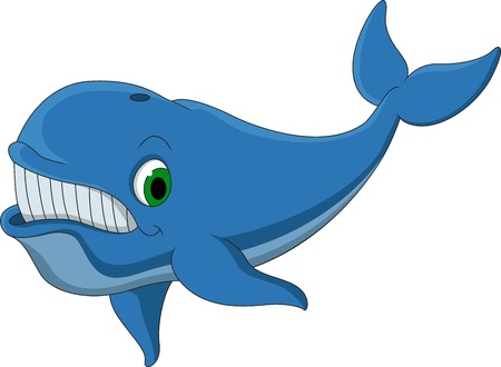 cetacean: cute blue whale cartoon