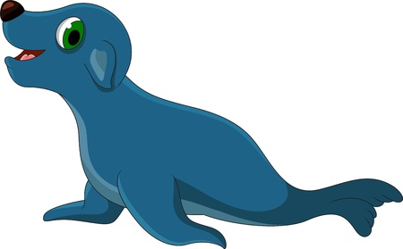 Seal cartoon Vector
