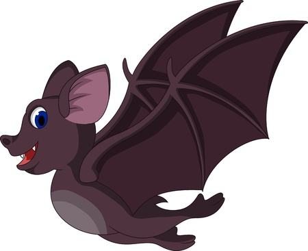 Cute Cartoon bat flying Stock Vector - 19623874