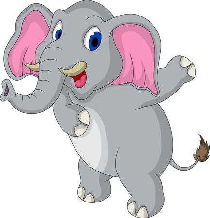 elefant: niedlichen Elefanten cartoon Illustration