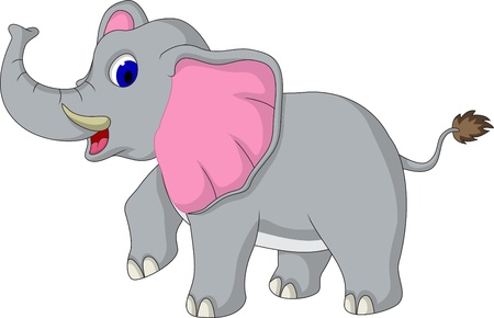 �l�phant: bande dessin�e d'�l�phant mignon Illustration