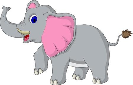 elefanten: niedlichen Elefanten cartoon Illustration