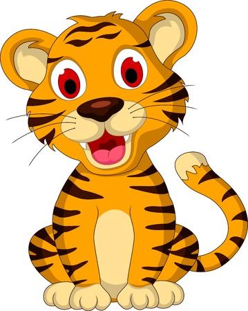 tigre caricatura: lindo beb� tigre sesi�n