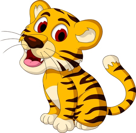 tigre cachorro: tigre de bebé lindo posando