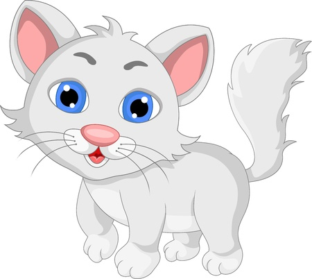 cat drawing: expresi�n lindo gato de dibujos animados