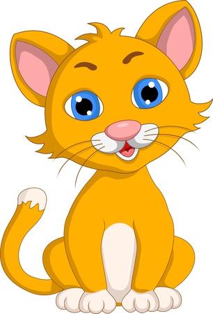 cute cat cartoon: cute cat cartoon expression