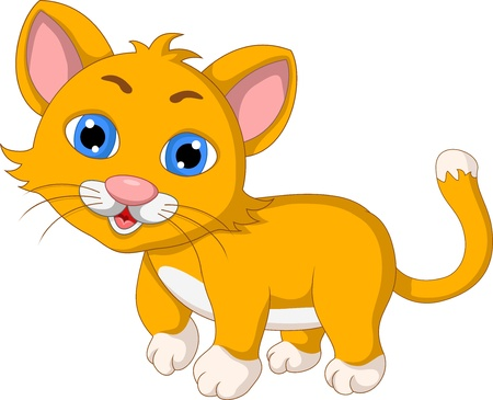 domestic cat: cute cat cartoon expression