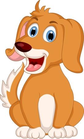 perro caricatura: poca expresi?n lindo perro de dibujos animados