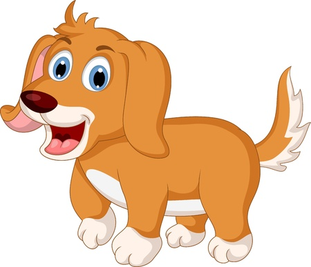 hound dog: cute little dog cartoon expression
