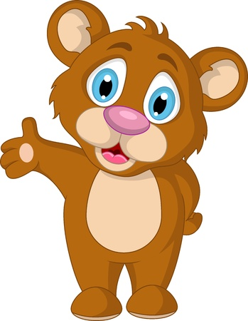 cute little brown bear cartoon expression Stock Vector - 19791494