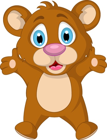 cute little brown bear cartoon expression Stock Vector - 19791479