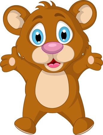 cute little brown bear cartoon expression Stock Vector - 19791479