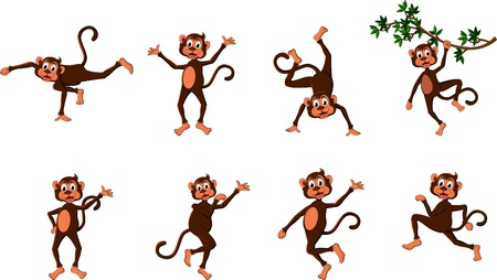 cute comical monkey series