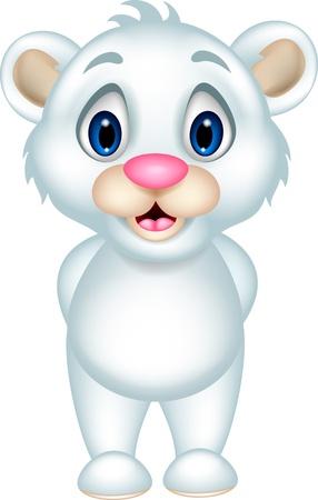 directing: cute baby polar bear posing Illustration