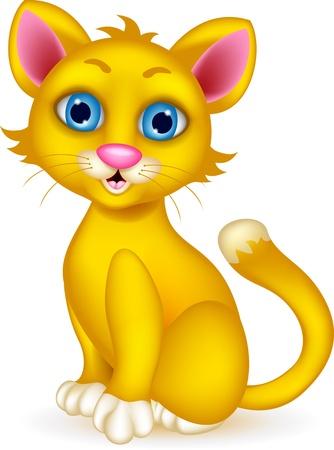 mjau: cute cat cartoon