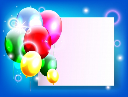 balloons with blank sign for birthday background Stock Vector - 19988972