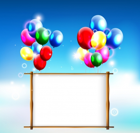 birthday background with place for text Stock Vector - 19989085