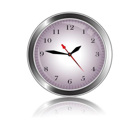 beauty metal clock Vector