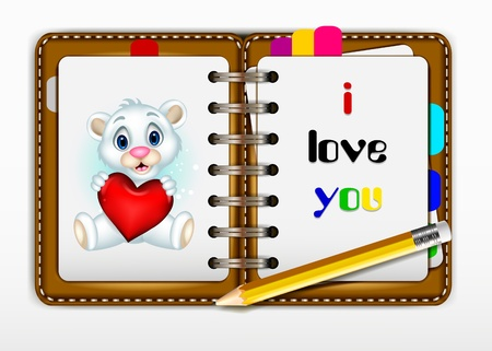 notepad for you design Stock Vector - 20020557