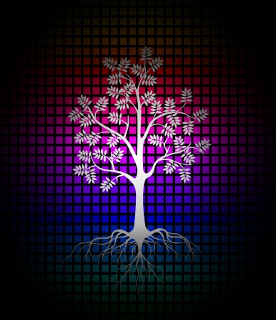 modern tree silhouette background Stock Vector - 20244777