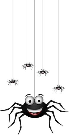 funny family of spider cartoon for you design