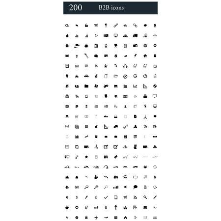 b2b: set of 200 B2B icons