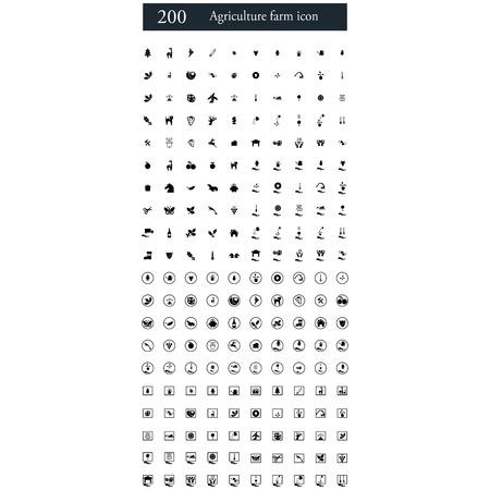 fertilizers: set of 200 agriculture farm icons
