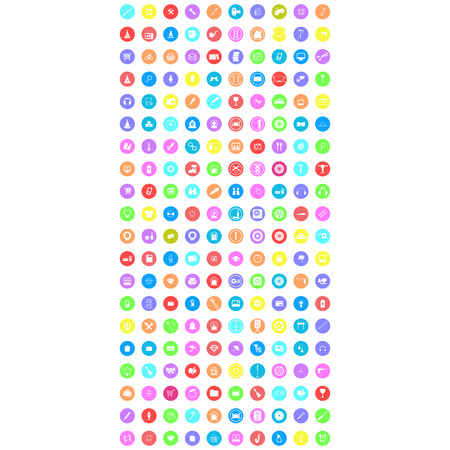 set of colorful mobile icon Illustration