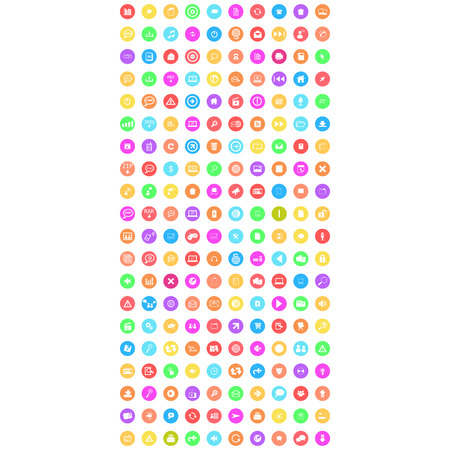 set of mobile icon colorful