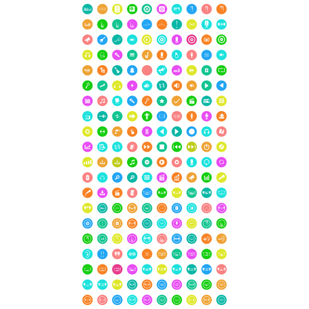 set of colorful mobile icons Illustration