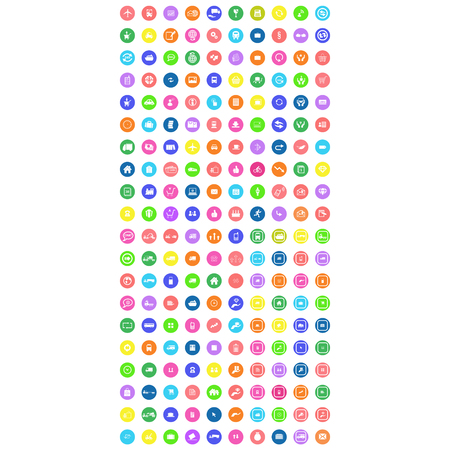 collection of multicolor mobile icon