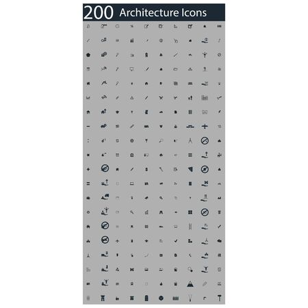 roof construction: set of 200 architecture icons