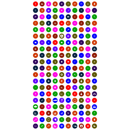 colorful mobile icons