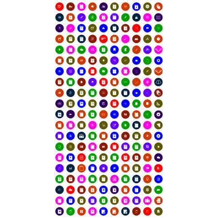 set of colorful mobile icon for you deign