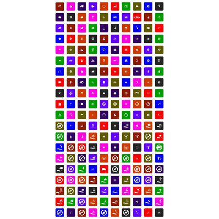 collection of big set colorful icon