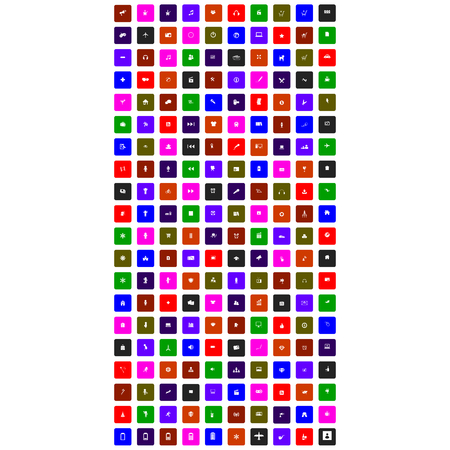 deign: set of colorful mobile icon for you deign
