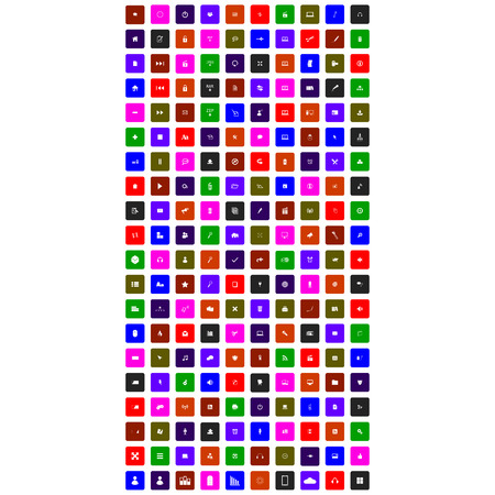 set of colorful icon