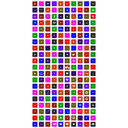 set of colorful flat icons