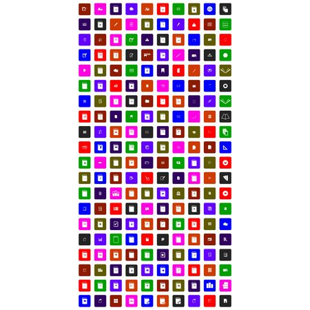 collection of colorful mobile icon