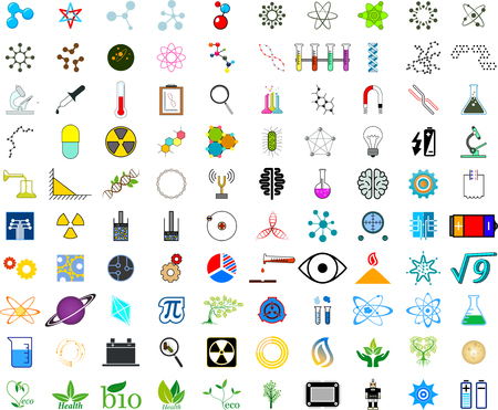 neutrons: Set of science icons