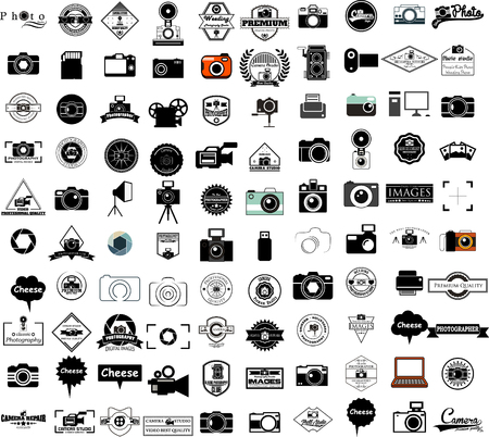 collection of camera icons