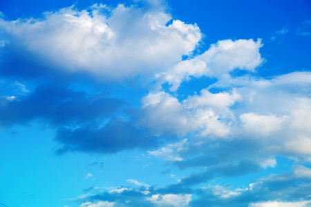 Blue sky background with clouds. Stock Photo