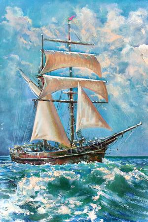 È di disegno della barca a vela, pittura