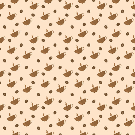Seamless pattern with cup of coffee and coffee bean Stock Vector - 9094311