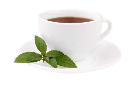 Photo of the cup of tea with mint