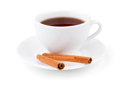 Photo of the cup of tea with cinnamon