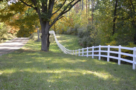 Country fence along a rural Michigan dirt road  Stock Photo - 17974375