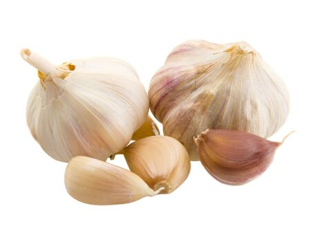 Some garlic over white, isolated Stock Photo